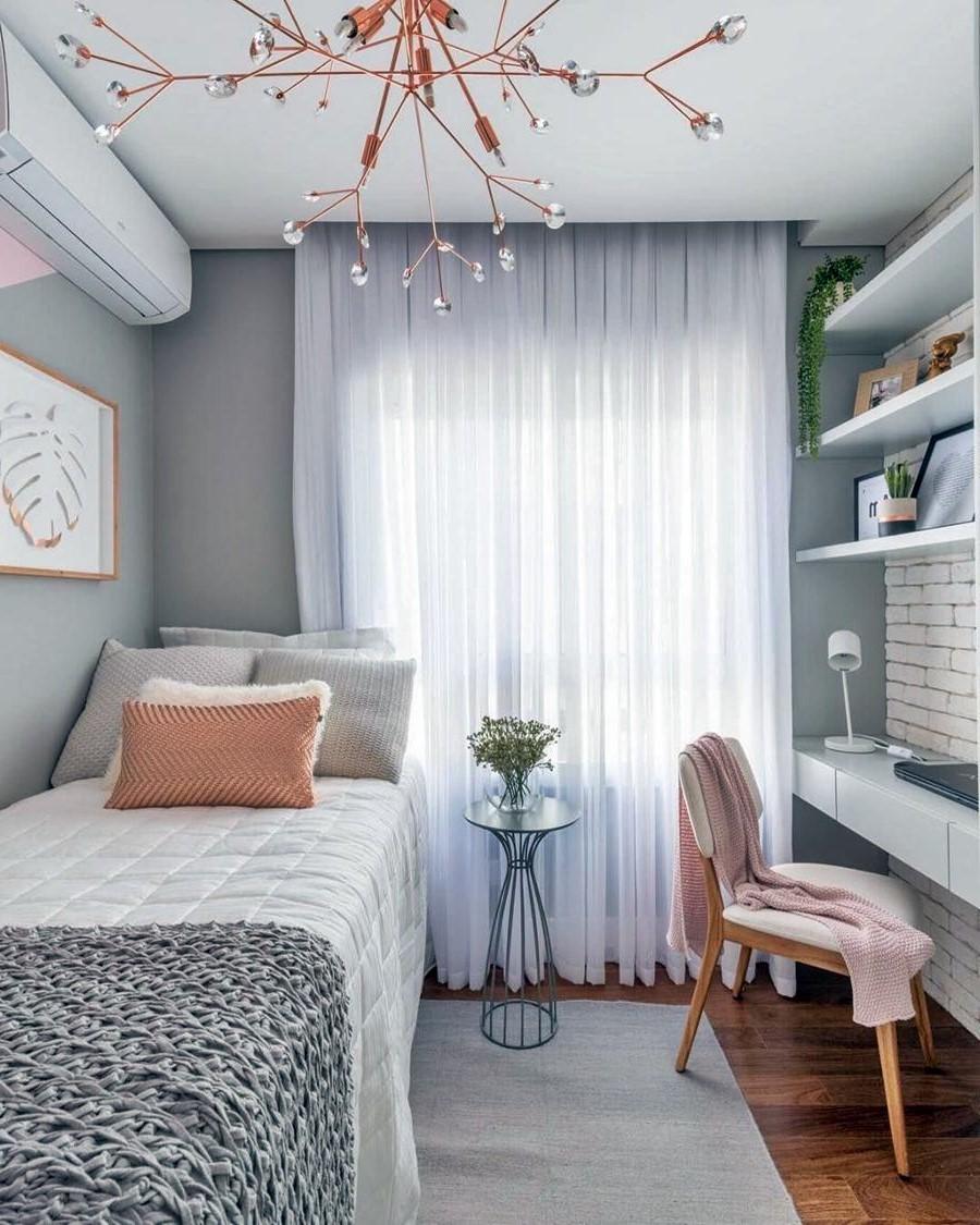 Idée pour chambre d'ado simple et élégante.