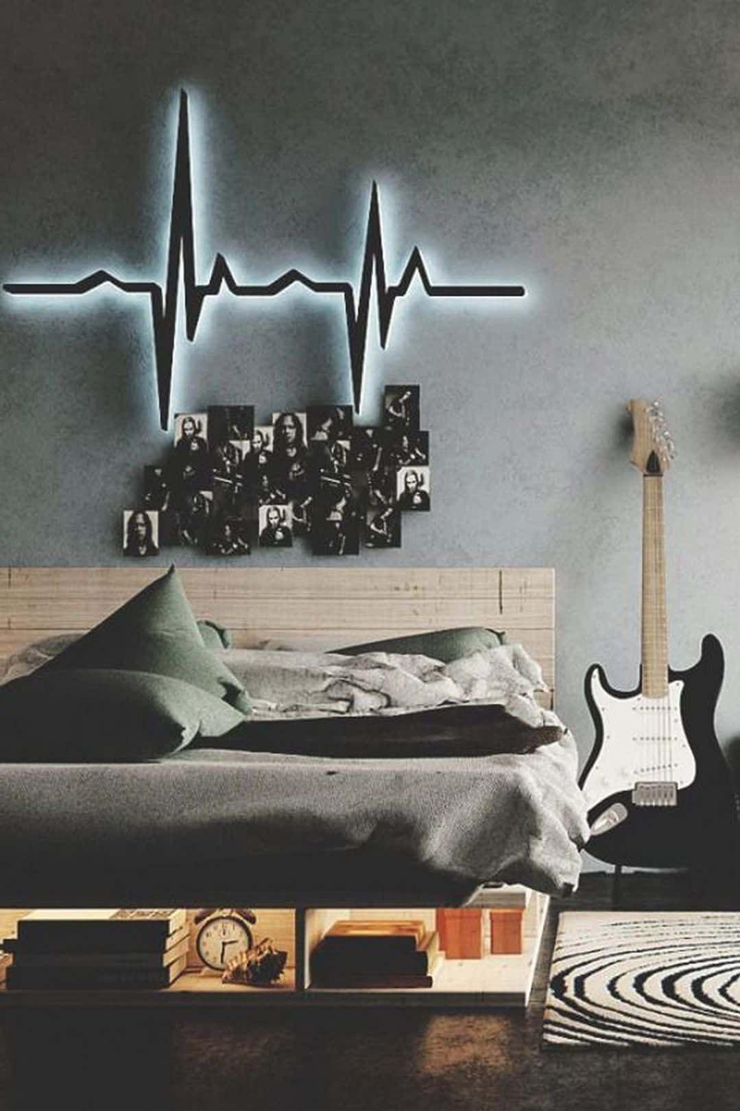 Idée pour une chambre d'ado qui aime la musique.
