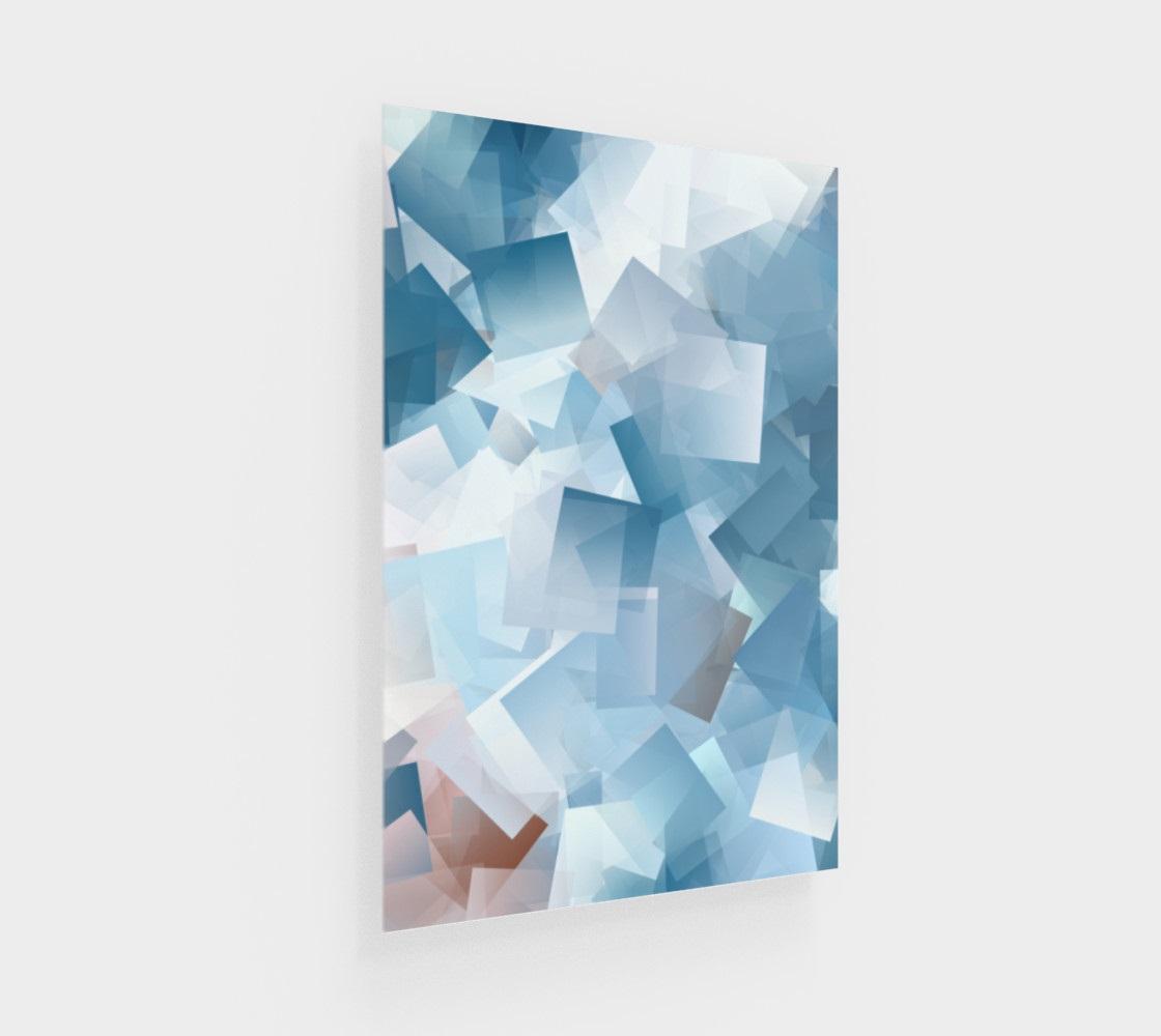 Dessin abstract imprimé sur Plexiglas.
