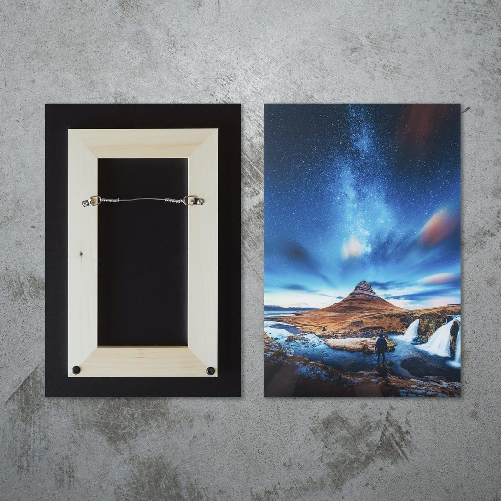 Paysage imprimé sur acrylique.