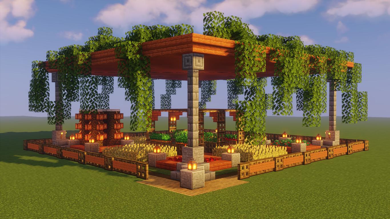 Jardin Minecraft superbe.
