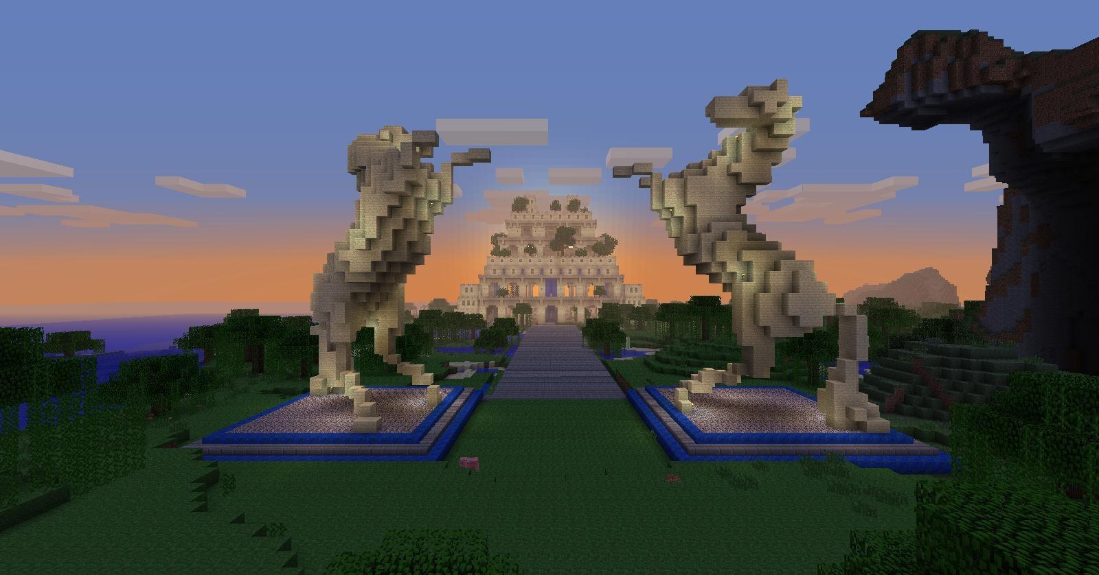 Des caractéristiques comme ces statues transformeront complètement votre jardin.