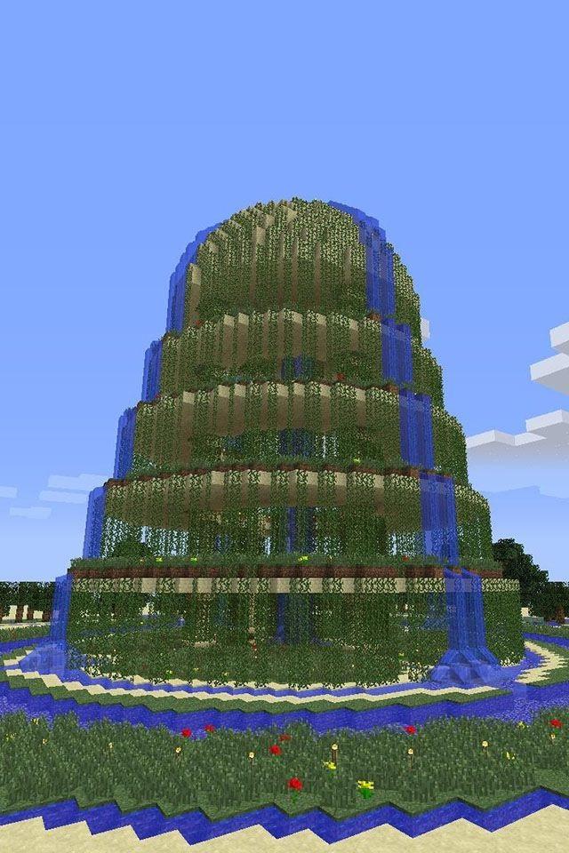 Ajoutez quelques plantes grimpantes pour embellir votre jardin Minecraft.