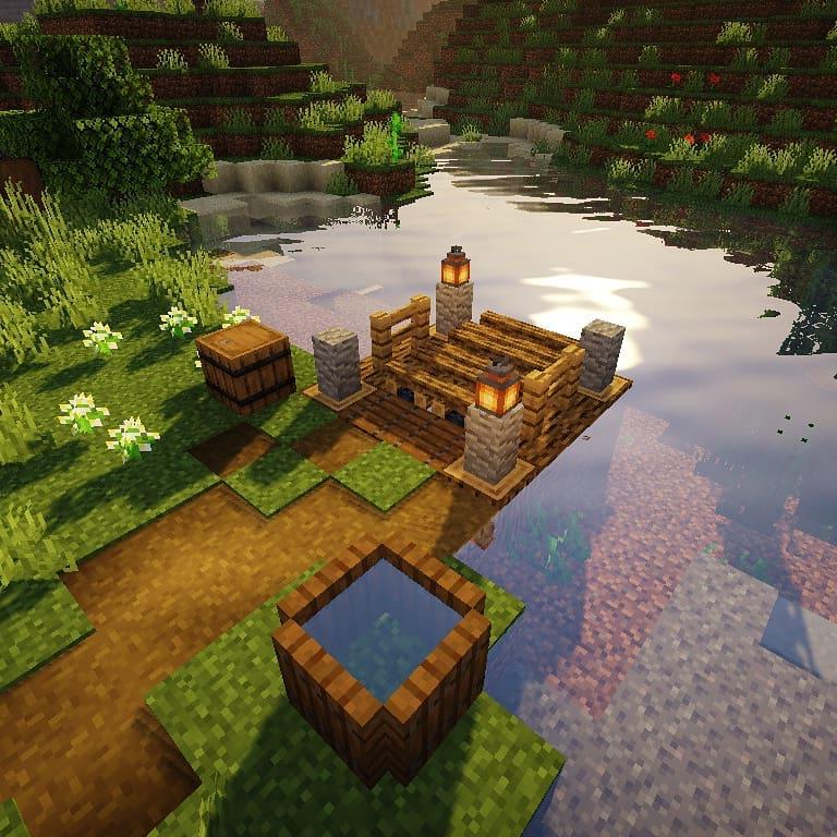 Si vous avez un lac ou une rivière à proximité, les chances de succès de votre jardin Minecraft sont grandes!