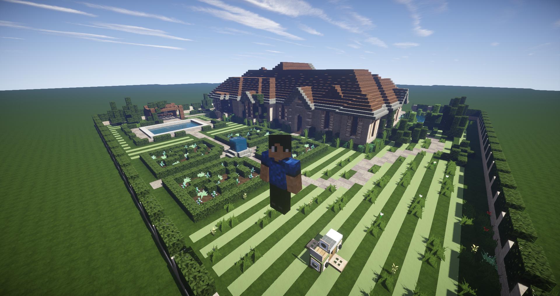 Maison avec piscine et aménagement de jardin merveilleux.