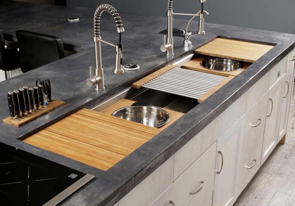 Idée pour les cuisines spacieuses.