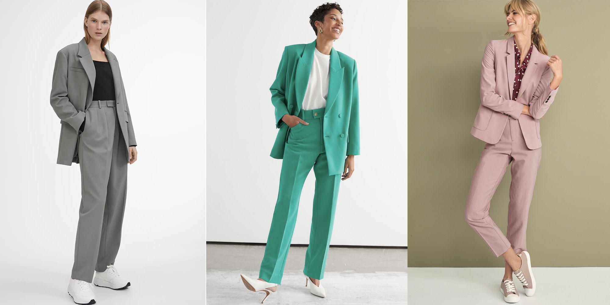 Tailleur femme en vert