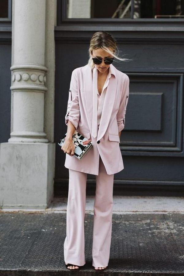Costume femme large rose
