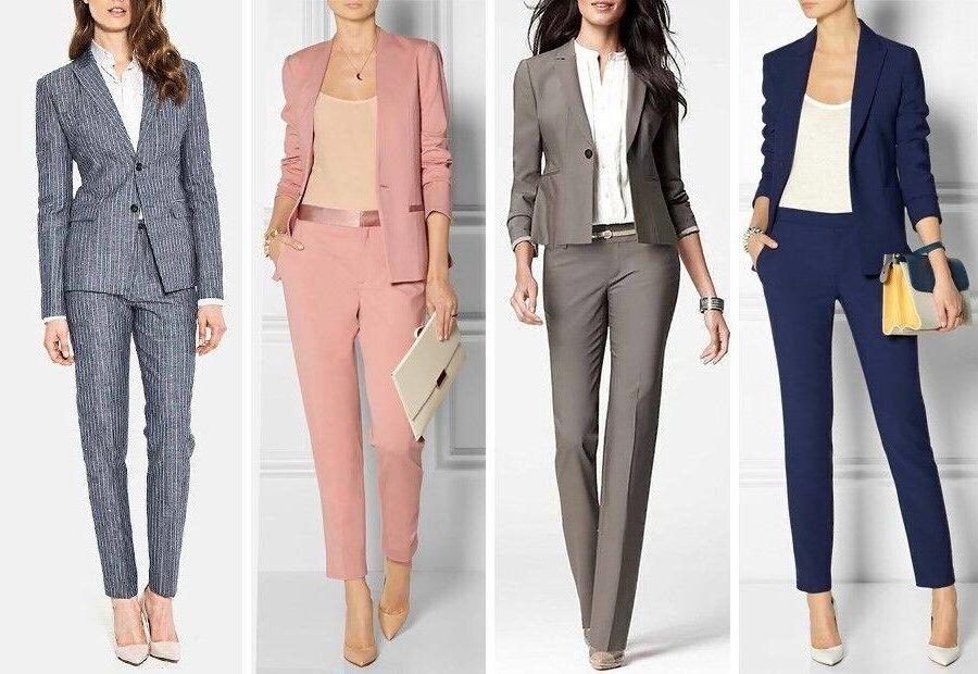 Quatre modèles de costumes élégants pour femmes