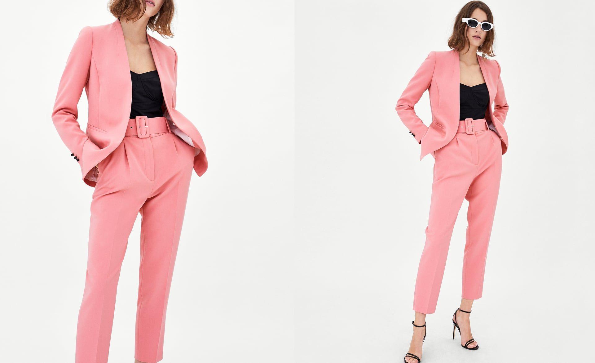 Tailleur femme en rose
