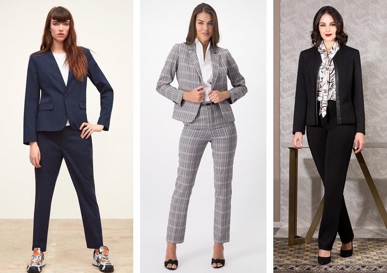 Trois modèles de costumes pour femmes