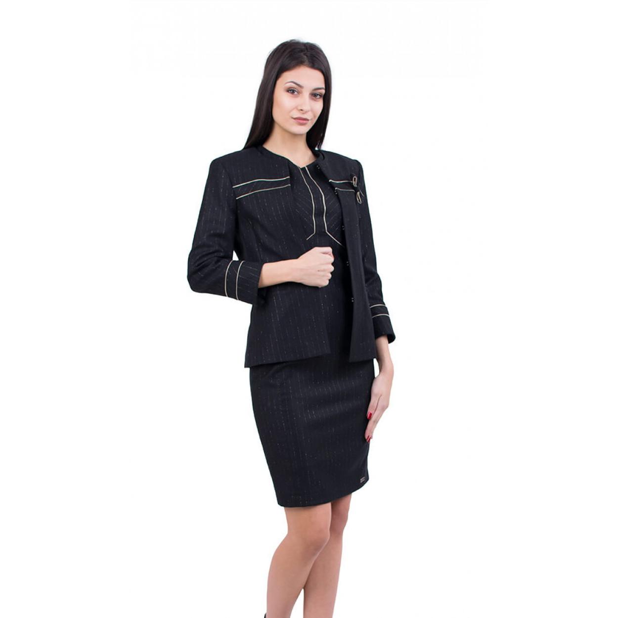 Costume femme noir avec jupe