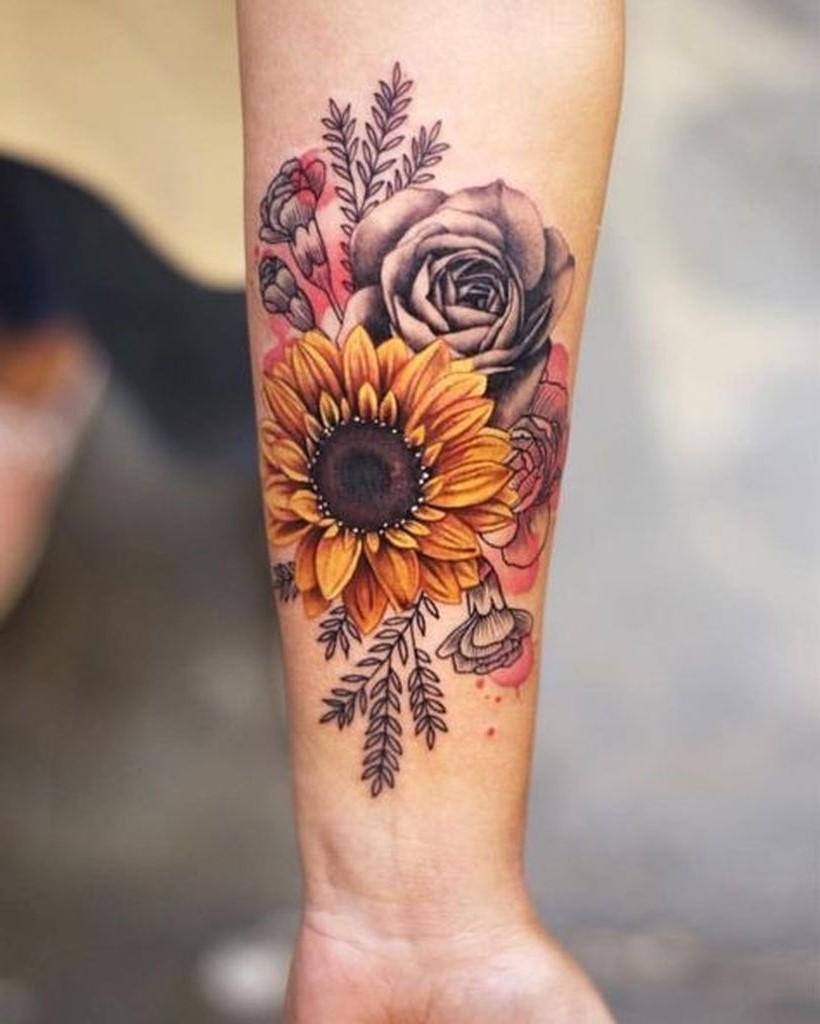 Bouquet de couleurs vives.