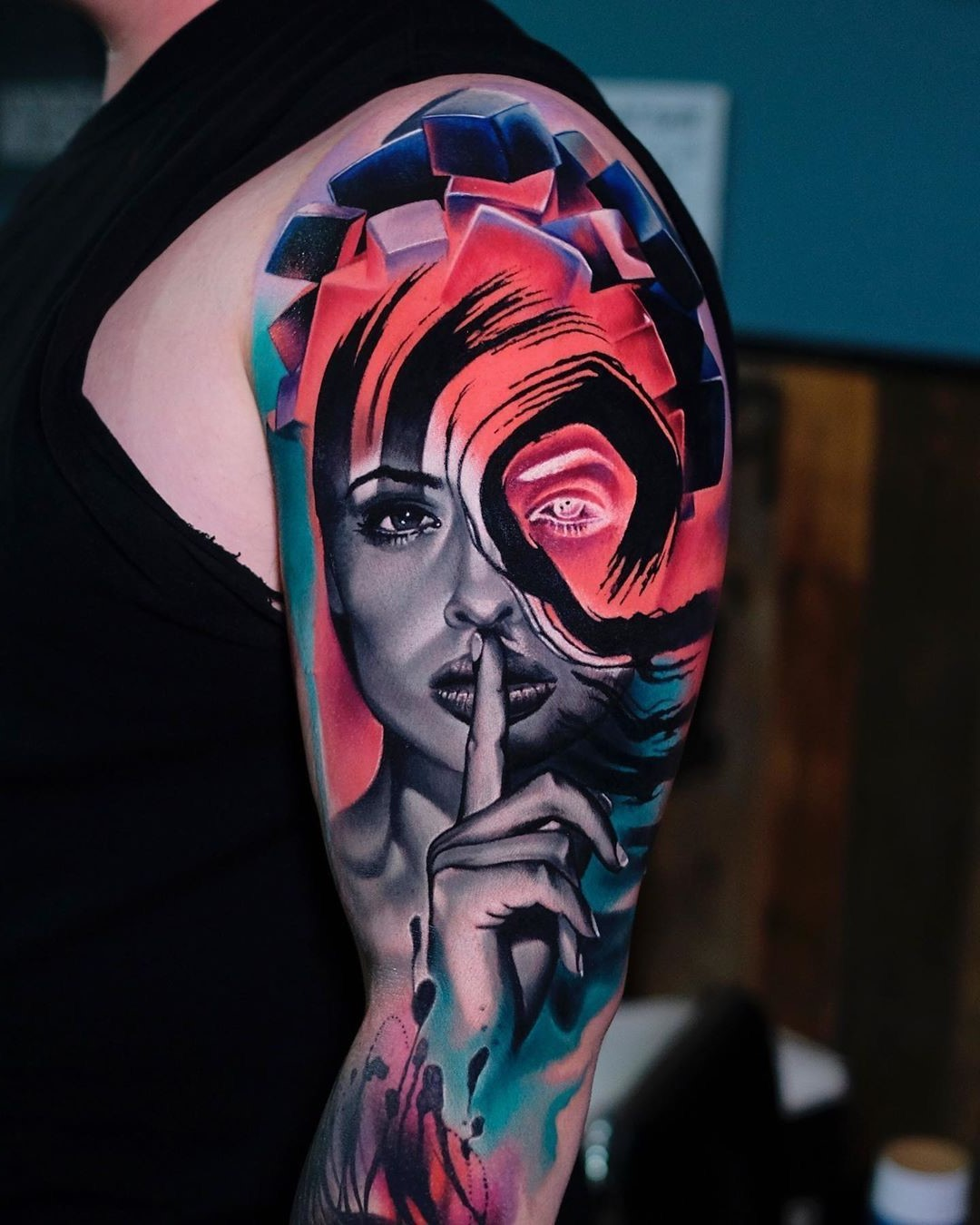 Tatouage de couleur.