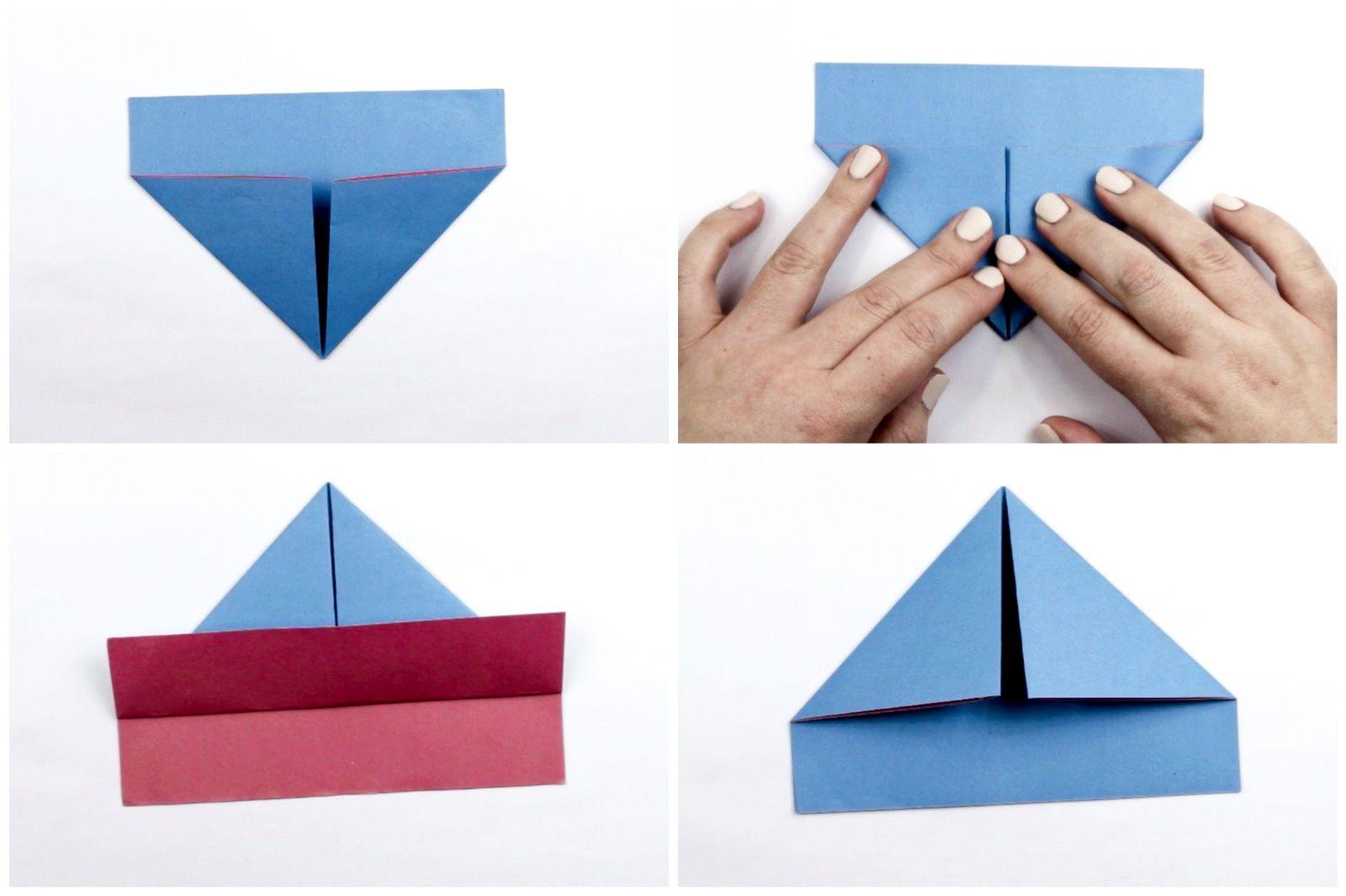 Tutoriel bateau en papier.