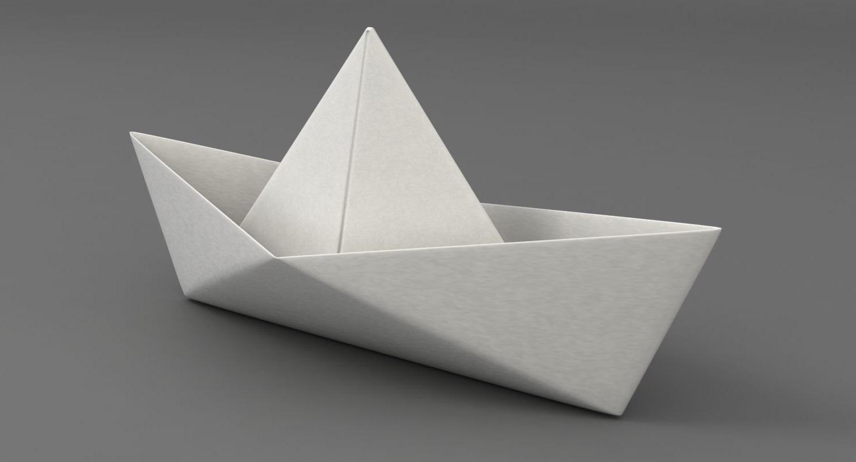 Bateau en papier classique.