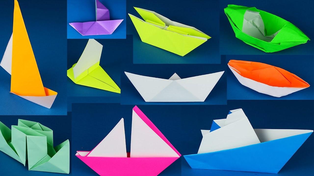 Bateaux en papier bricolage.
