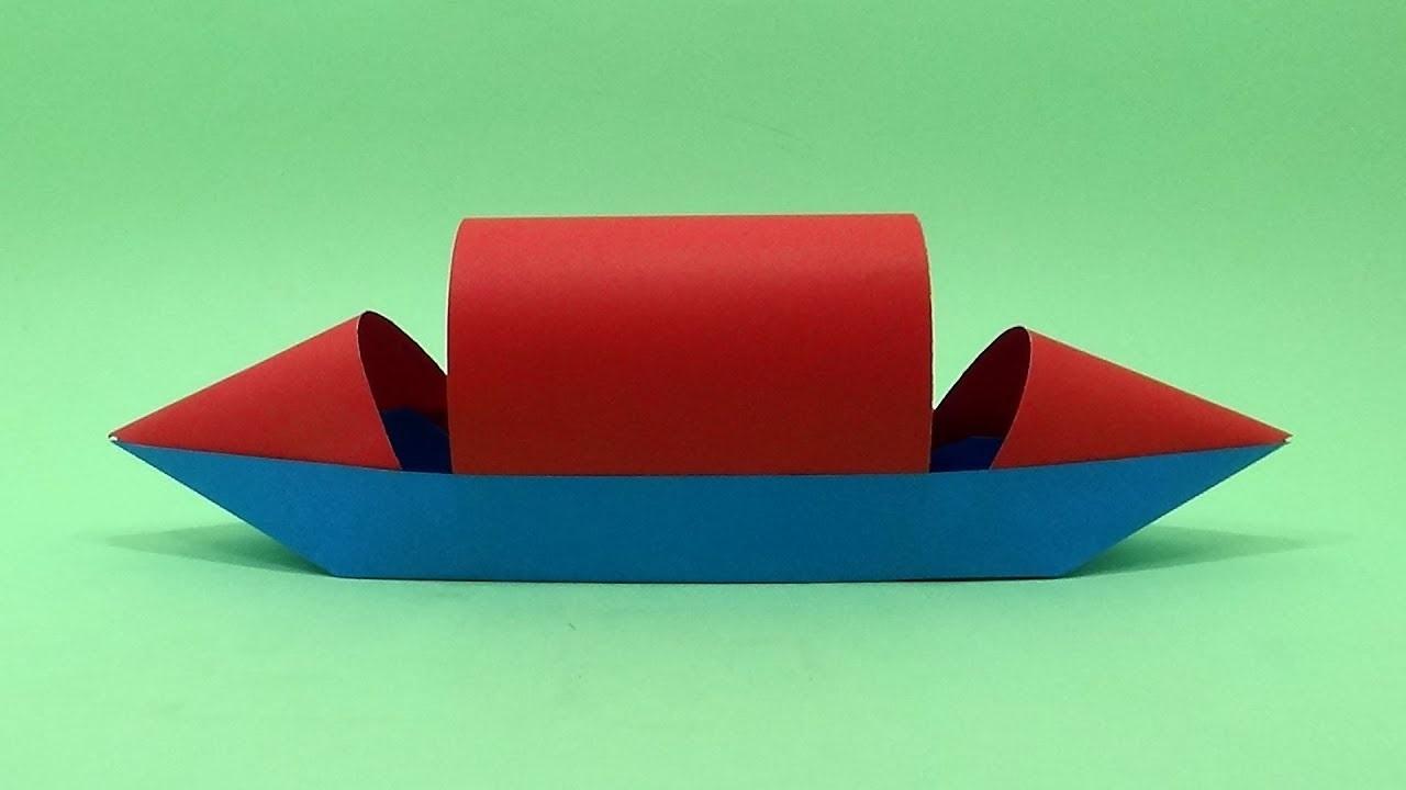 Modèle de bateau créatif.