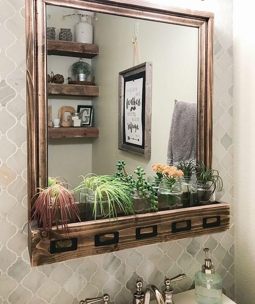 Vous pouvez également y ajouter une étagère où ranger quelques plantes.