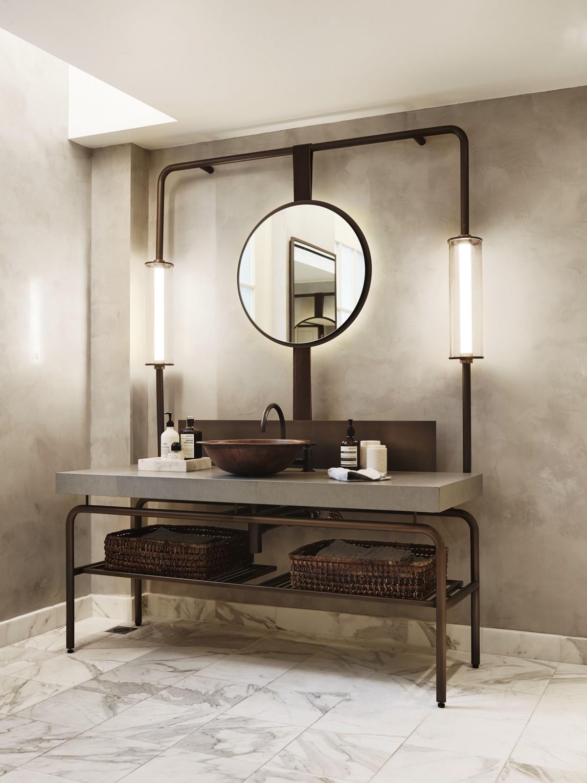 Conception de salle bains industrielle.