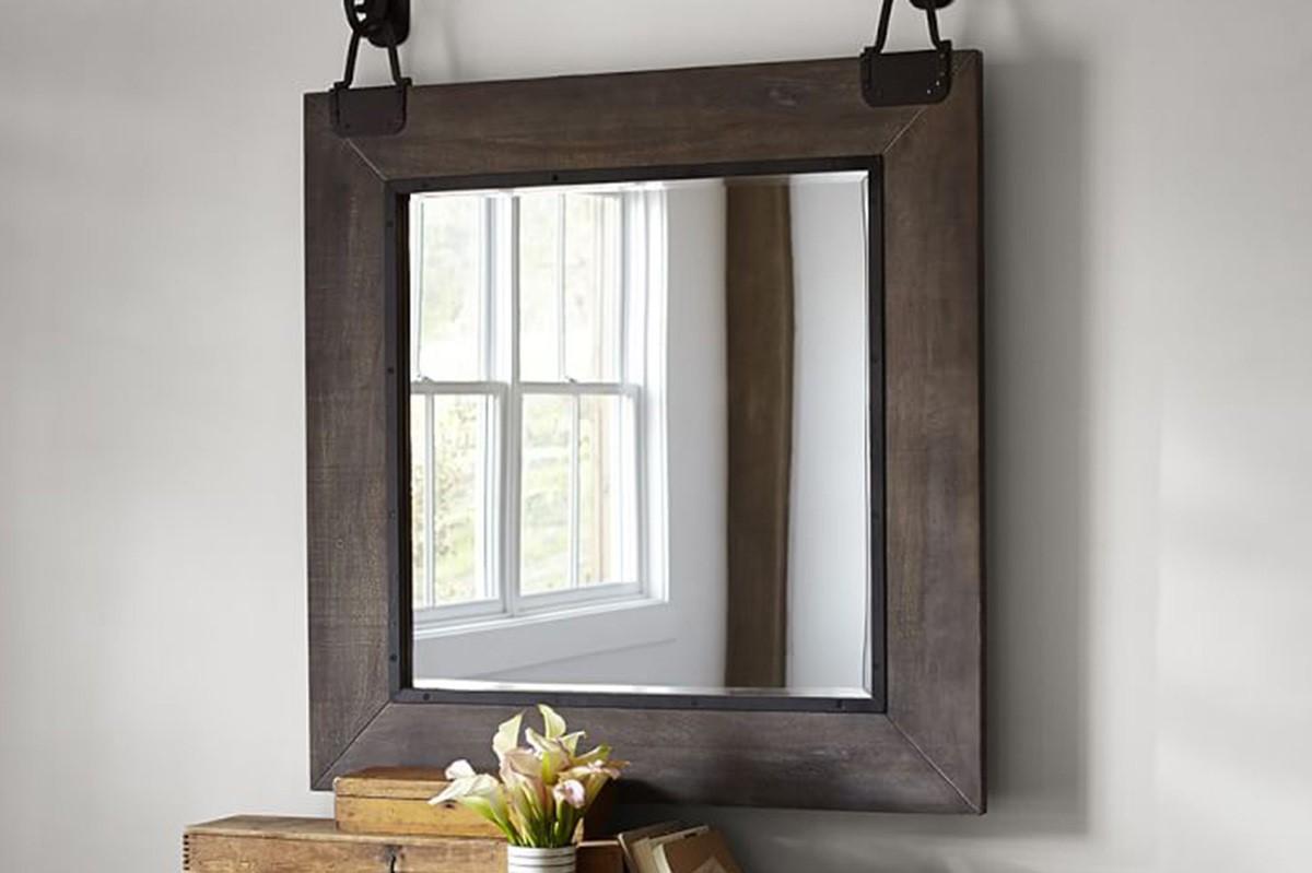 Fabriquer un miroir industriel DIY.