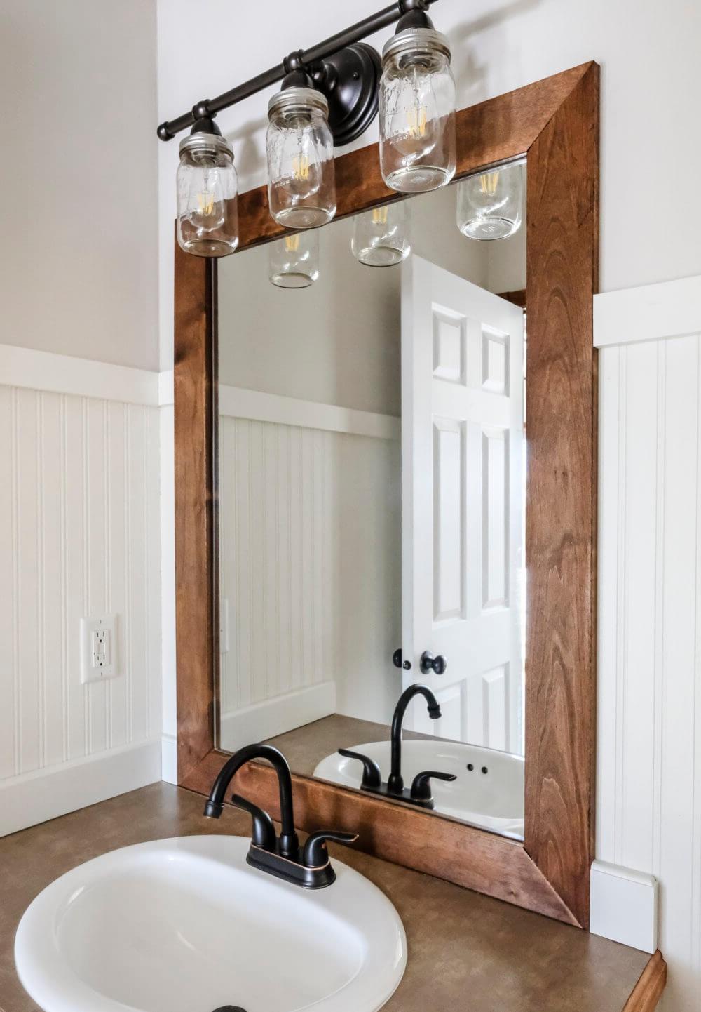 Fabriquer un miroir industriel bricolage.