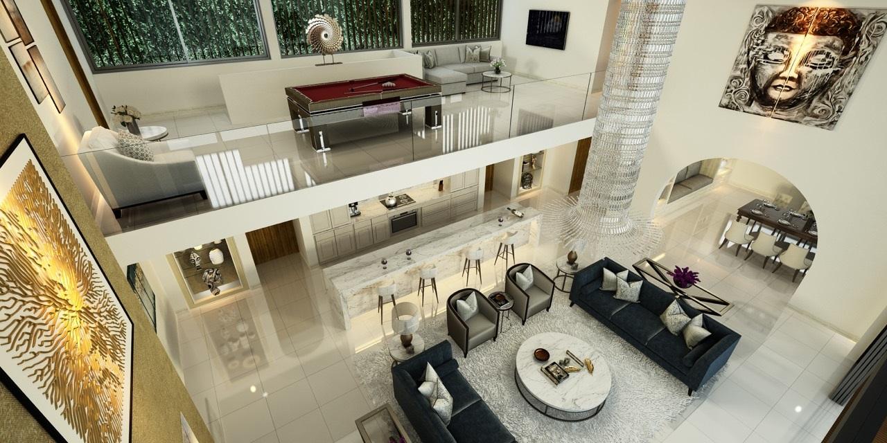 Concevez votre salon dans le style zen pour donner une sensation paisible a l'espace.