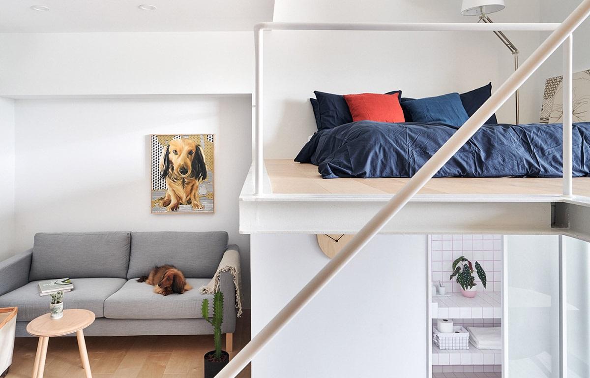 Si votre espace de repose est limitée, pensez à ajouter une ''chambre à coucher'' en dessus votre salon.