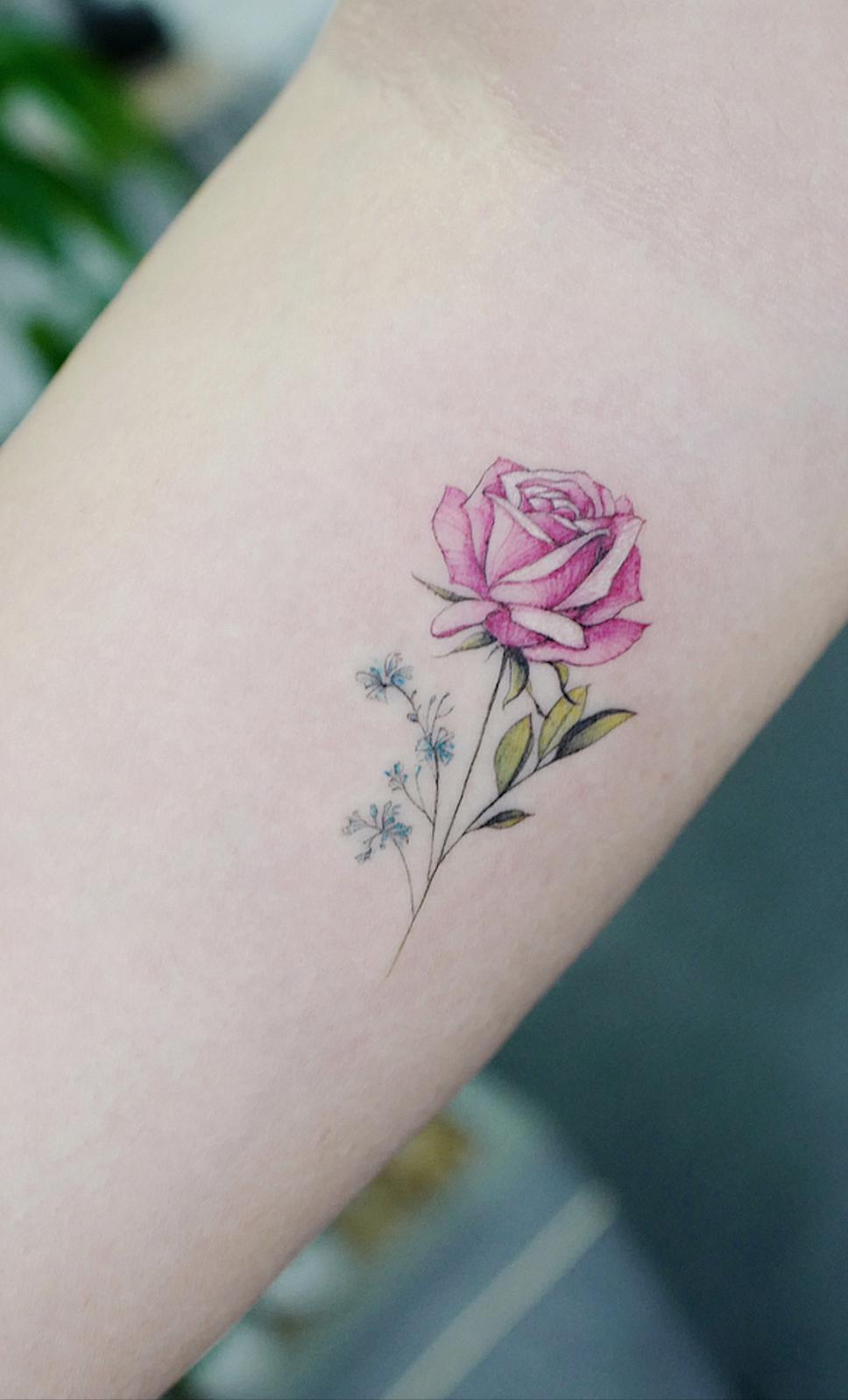 Rose minuscule.