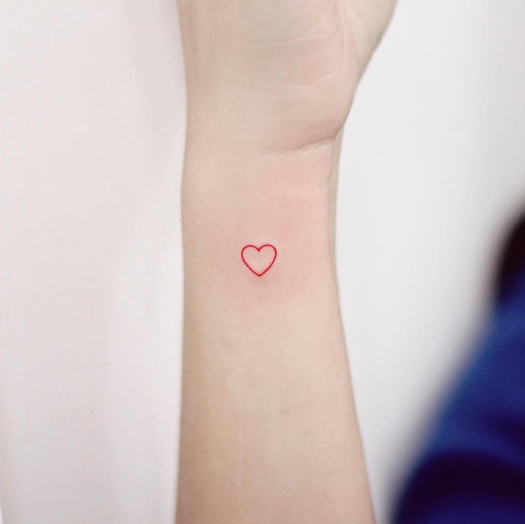 Petit coeur rouge.