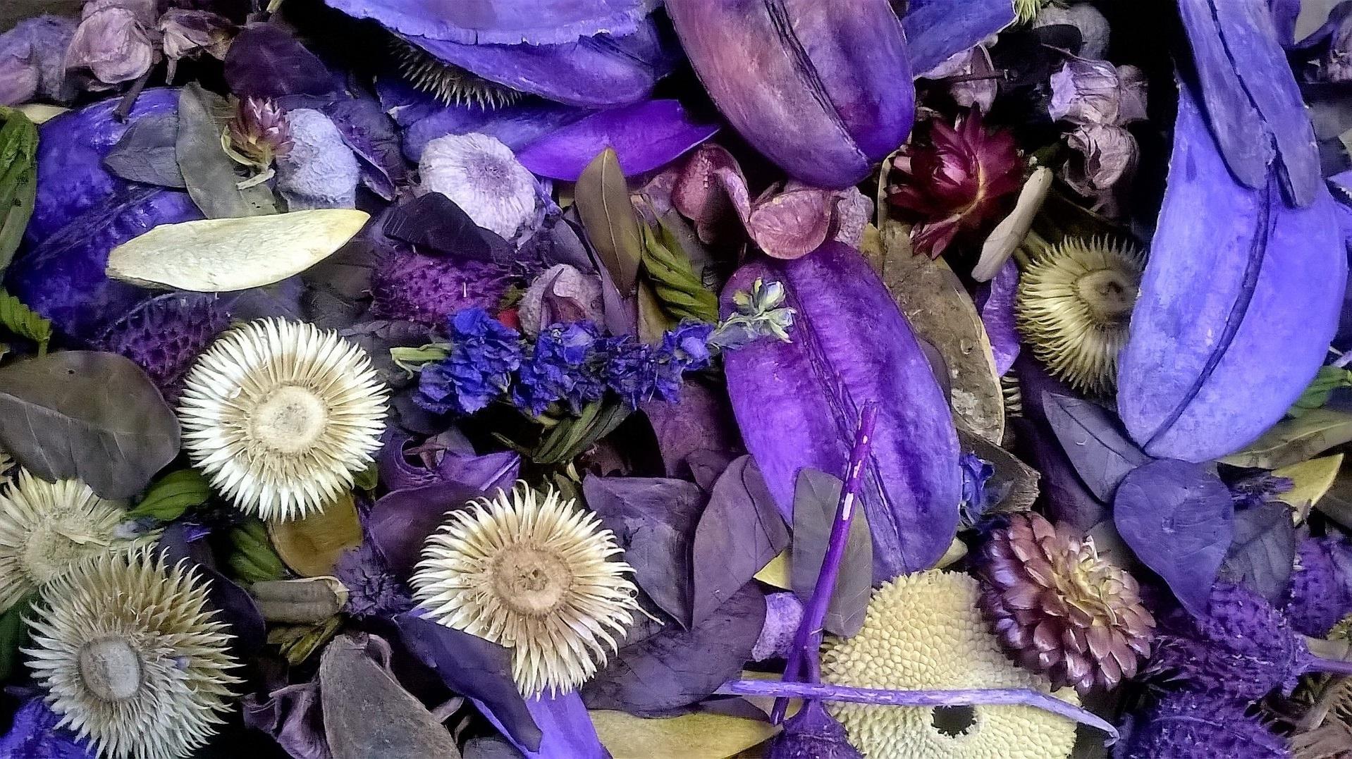 Pot-pouri violet.