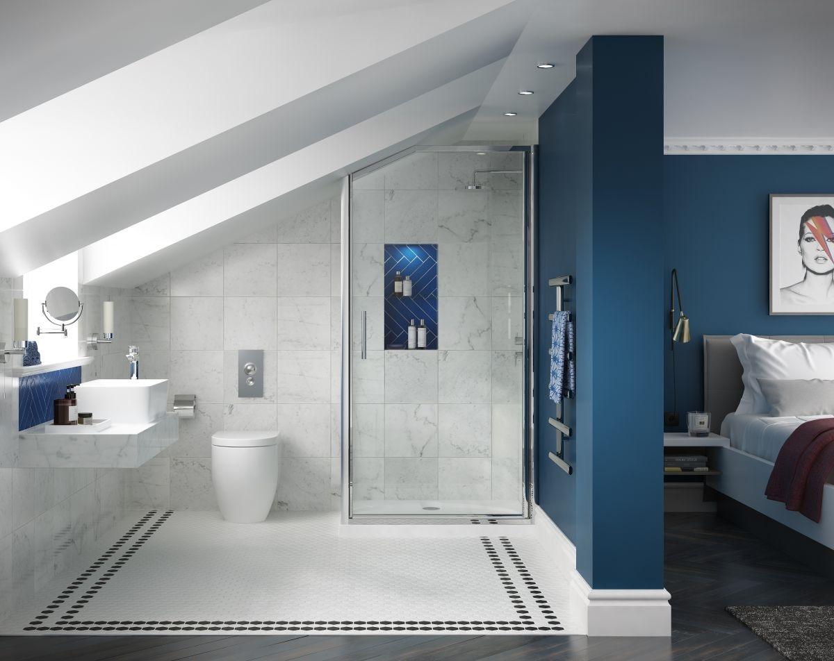 N'hésitez à ajouter de la couleur dans votre salle de bains.