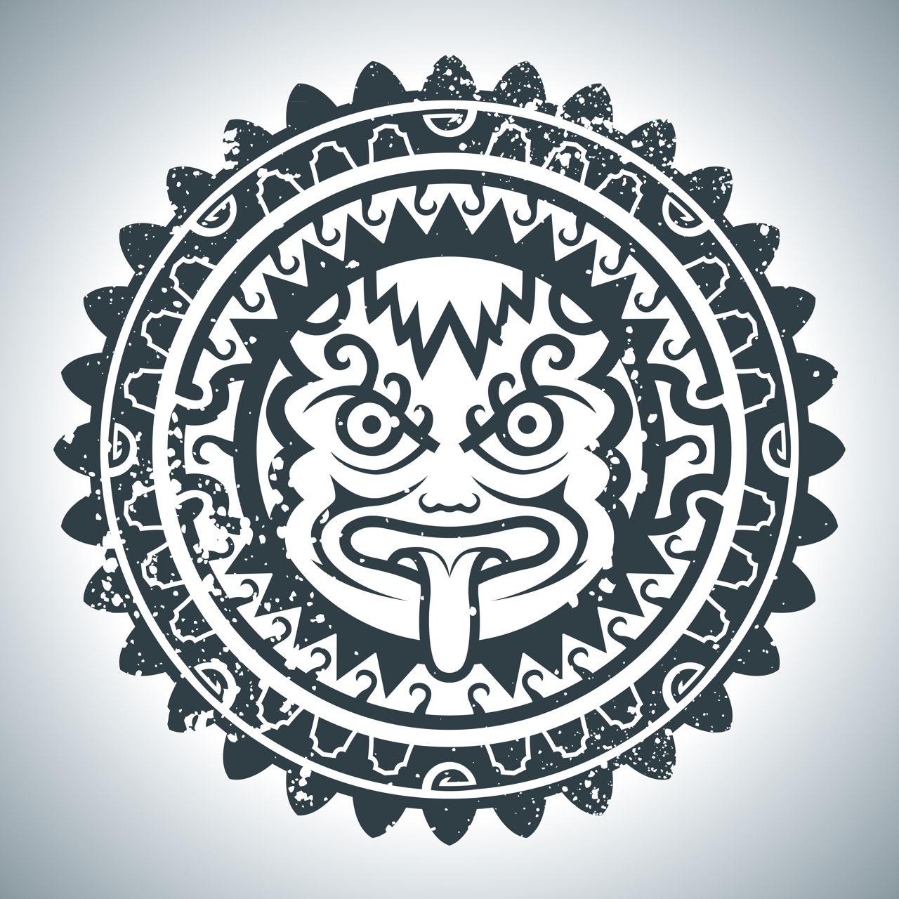 Taouage maya classique.