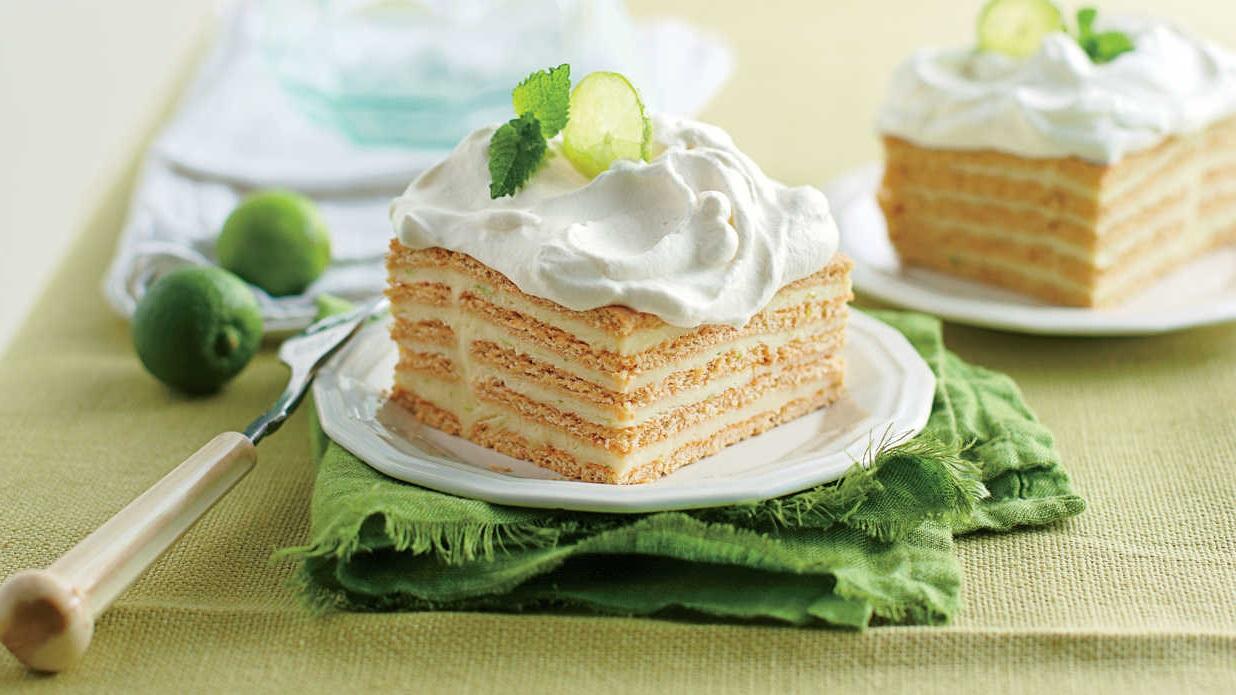 Délicieux gâteau au citron vert.