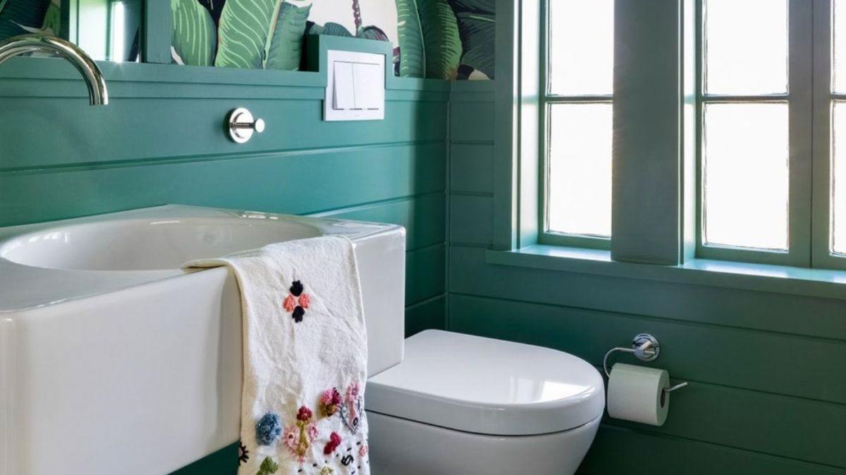 Salle de bain pastel.