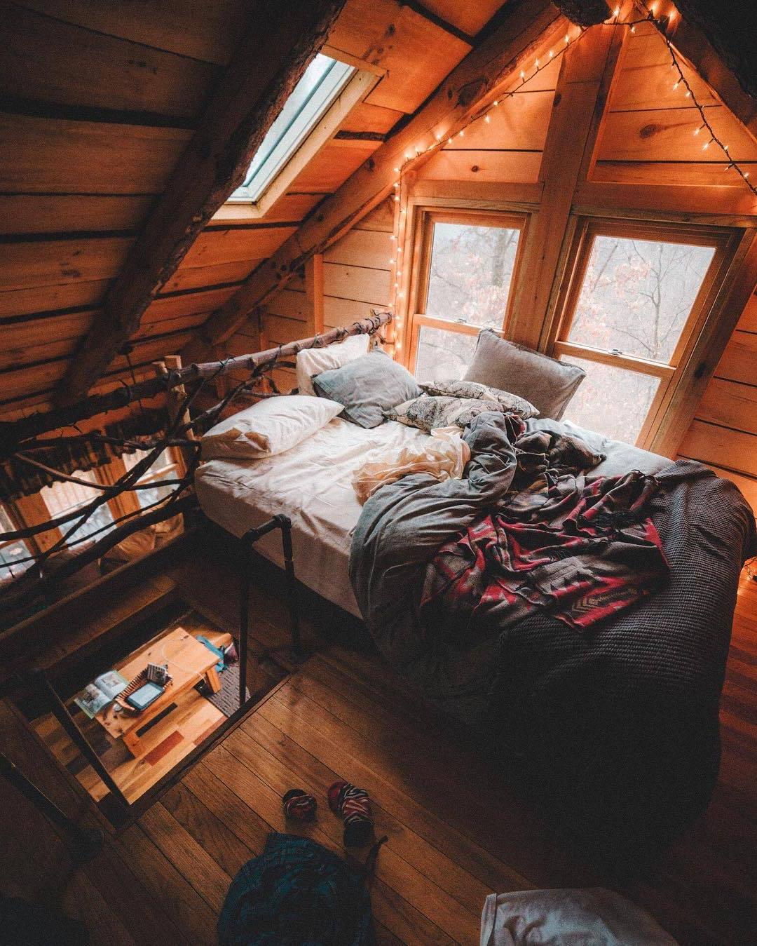 Aménager une chambre sous combles.
