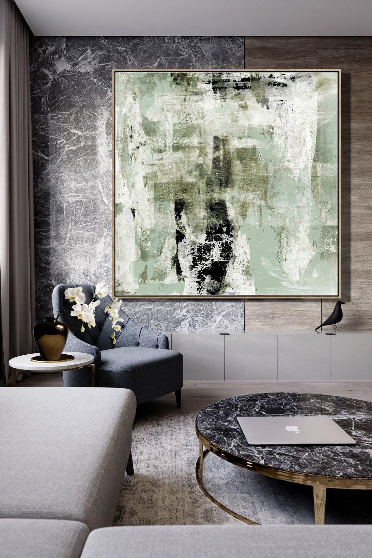 Peinture abstraite pour le salon.