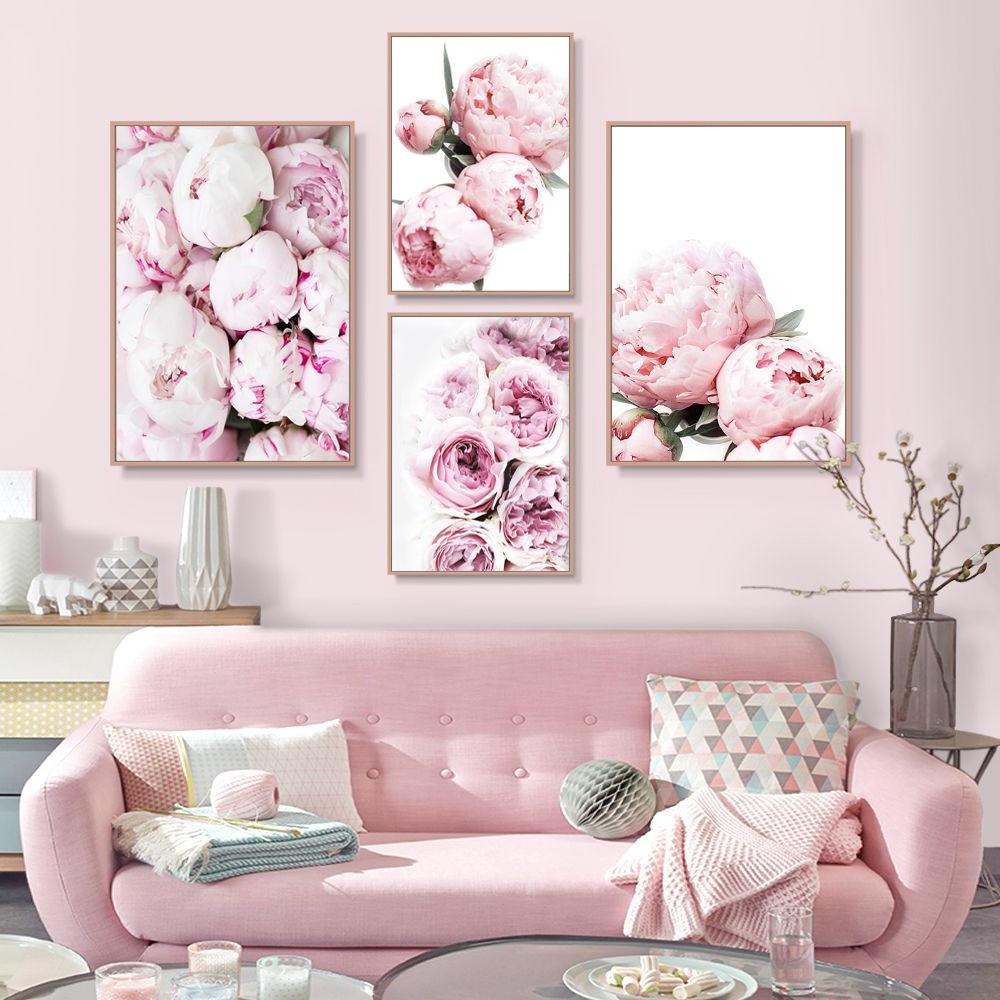 Décoration romantique et féminine pour le mur.