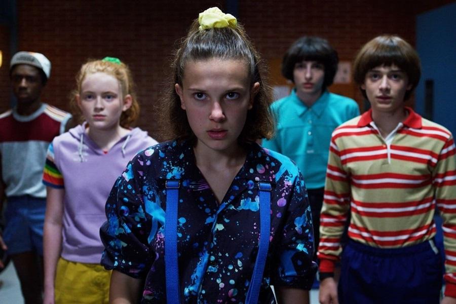 Style des années 80 dans la série Stranger Things.