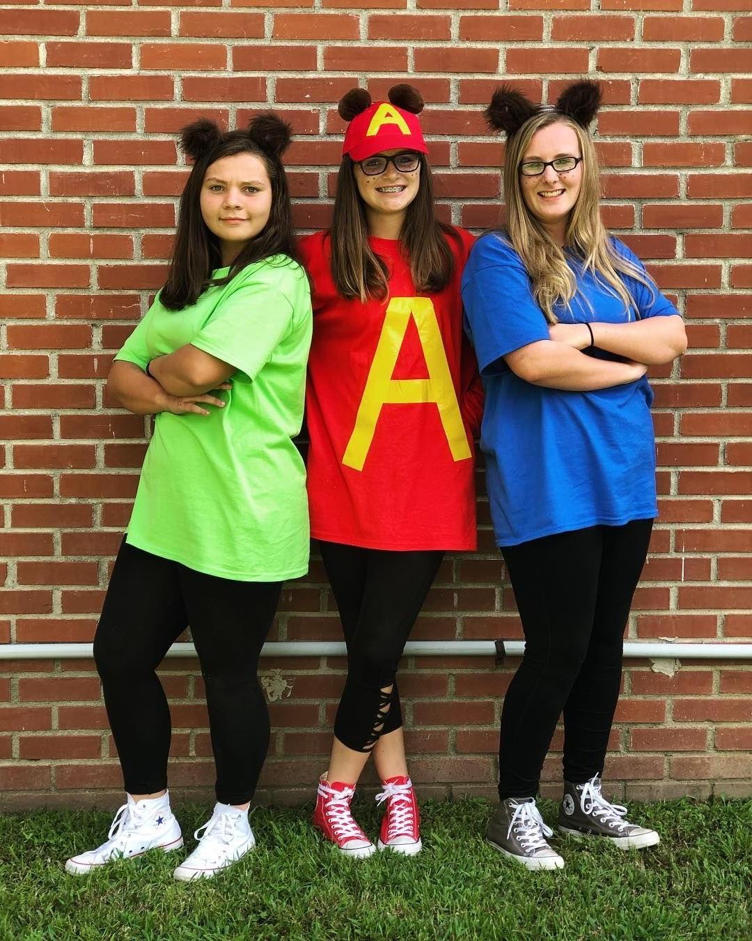 Idée de déguisement de groupe: Alvin et les Chipmunks.