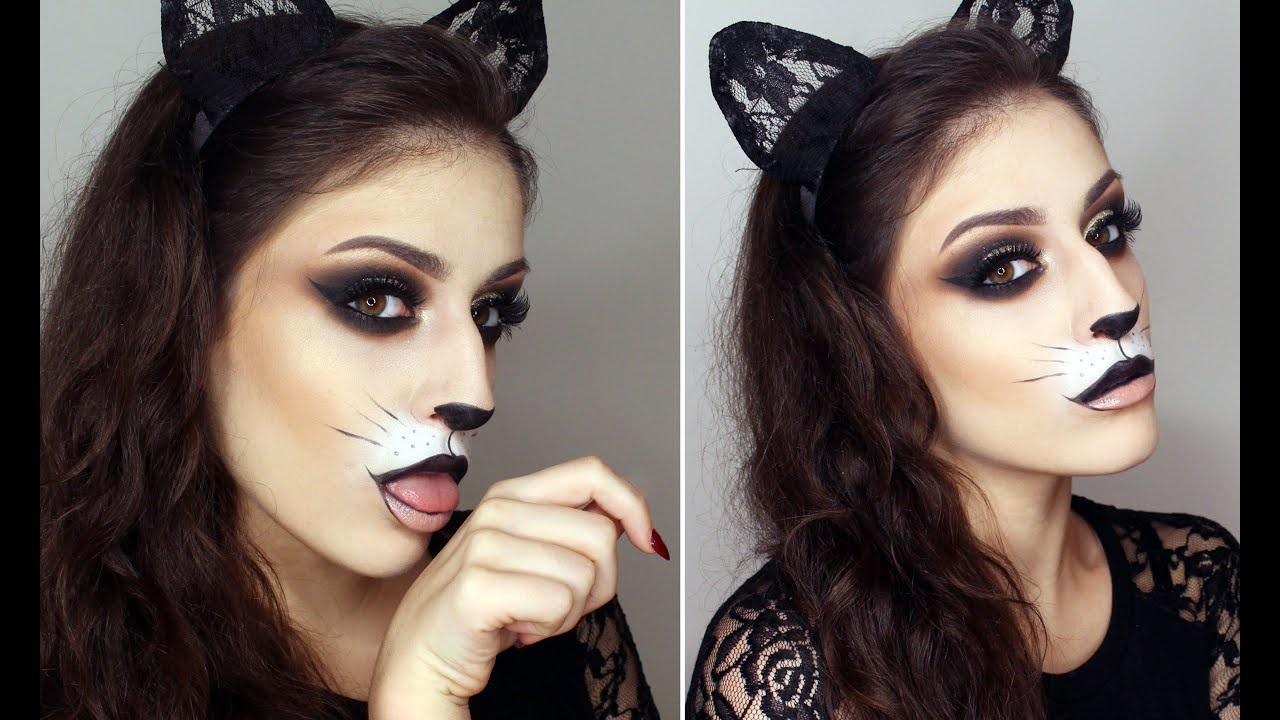 Déguisement et maquillage de chat.