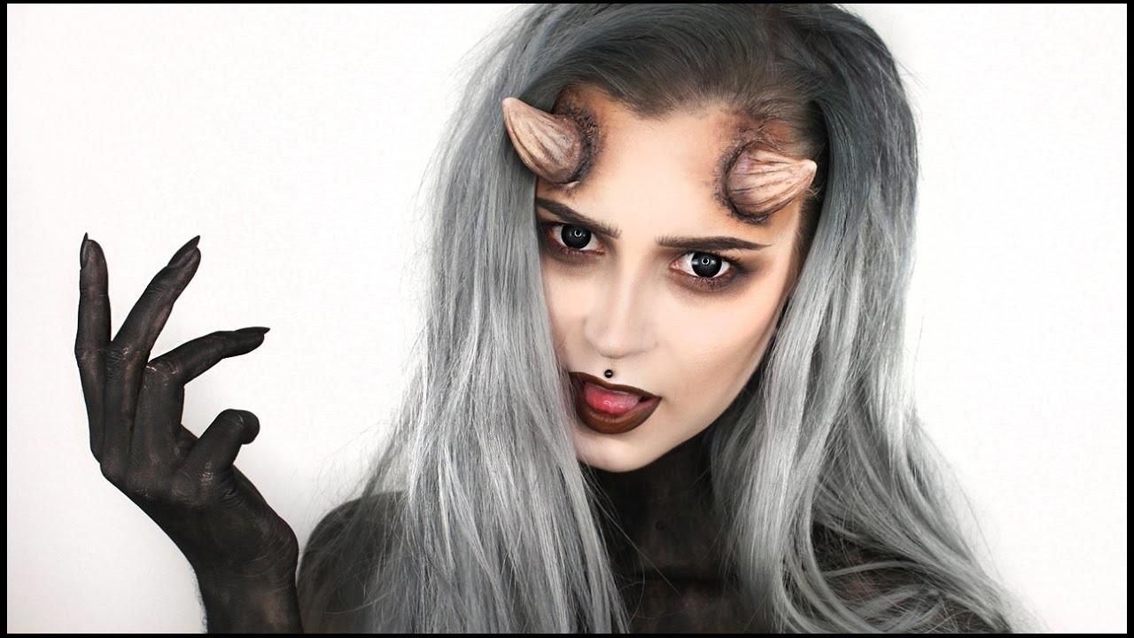 Déguisement et maquillage diablesse.