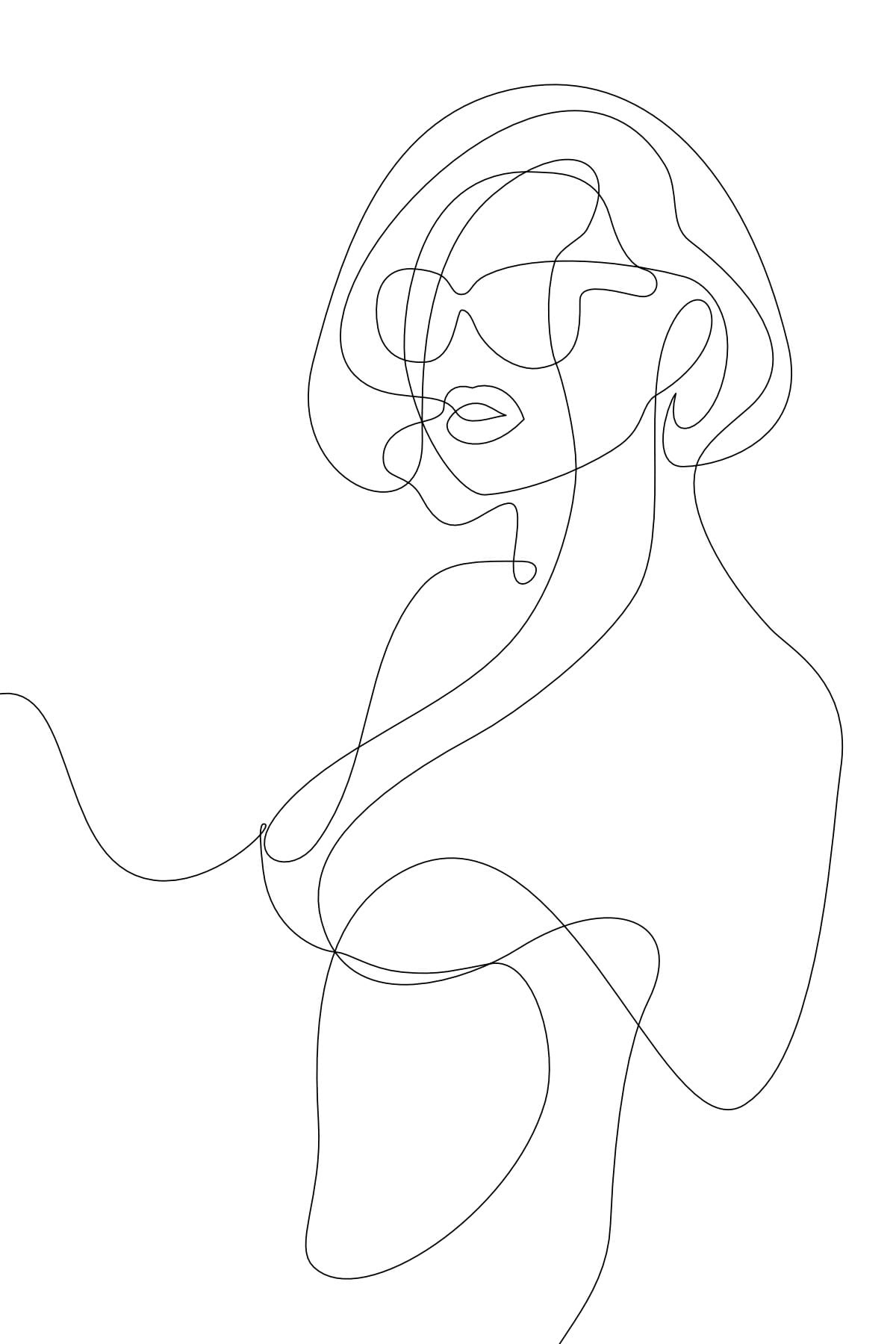 Art linéaire féminin.