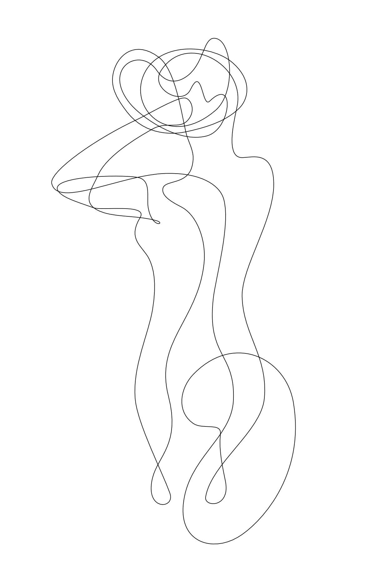 Idées de dessin linéaire.