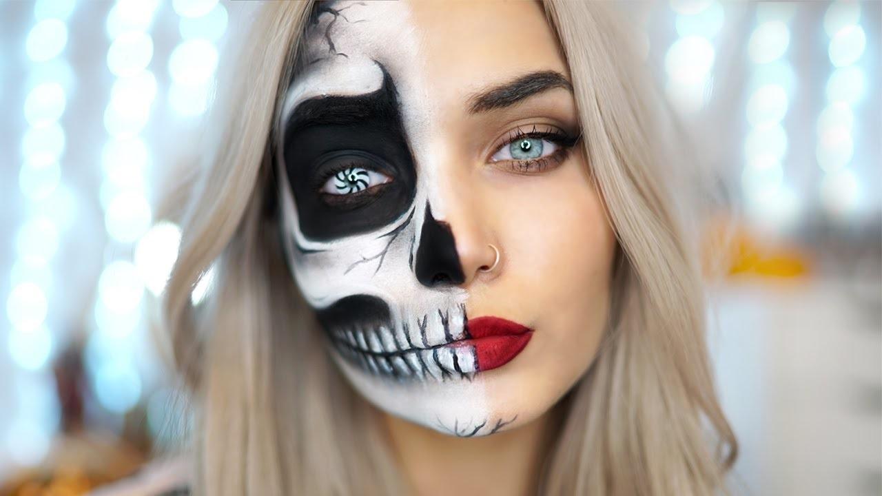 Мaquillage d'Halloween squelette.