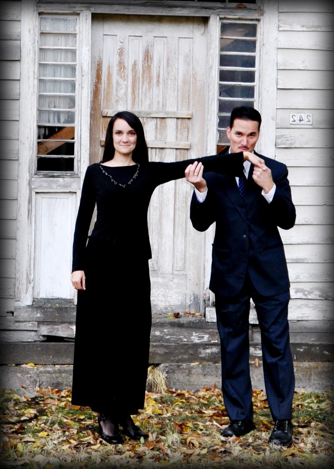 Déguisement d'Halloween pour couple.