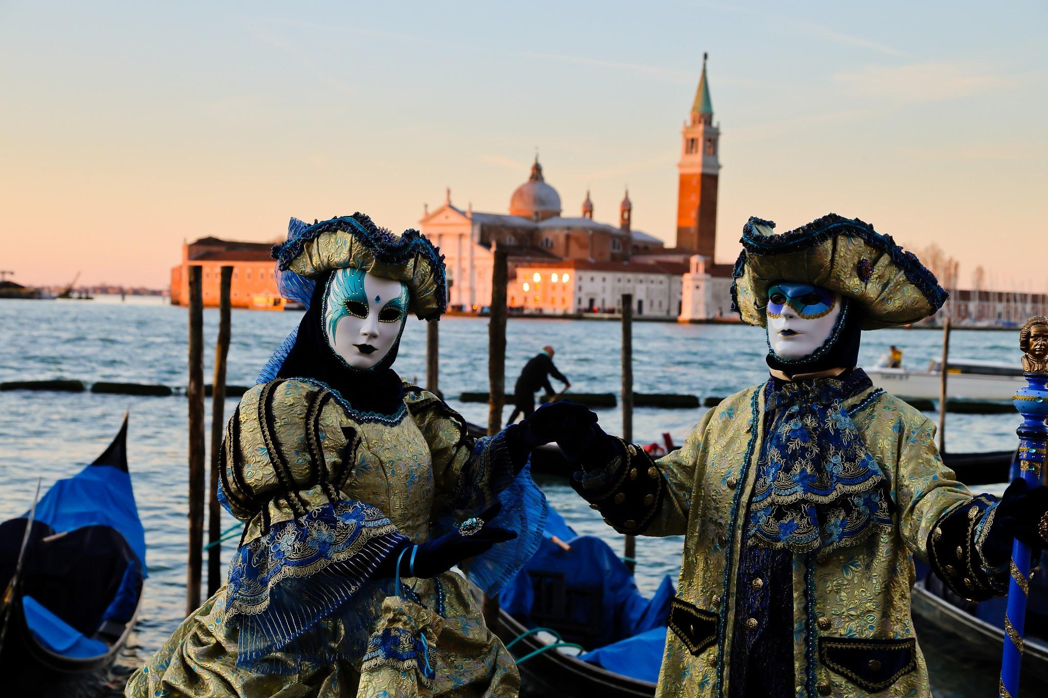Bal masqué à Venise.