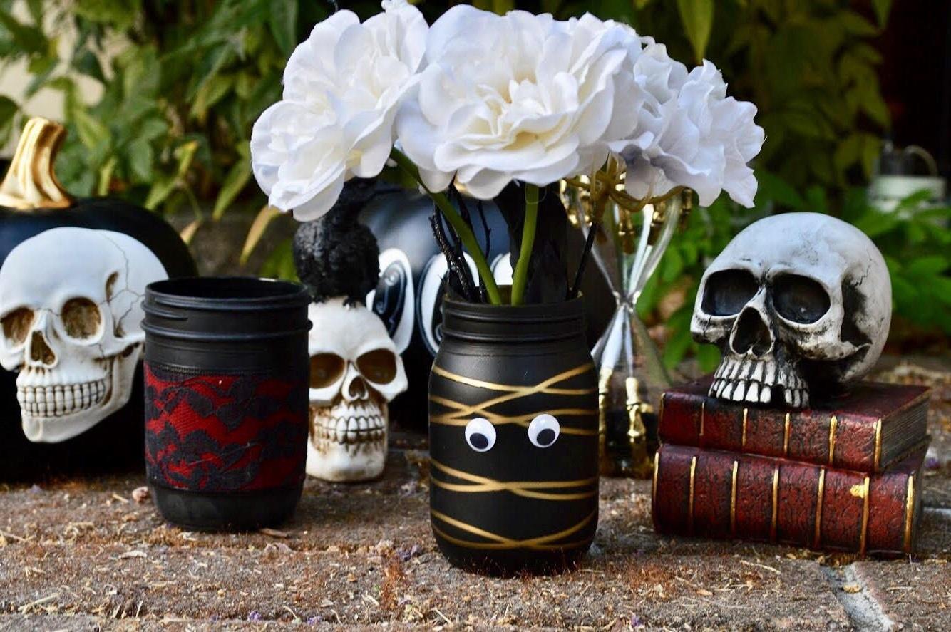 Vase DIY effrayante.