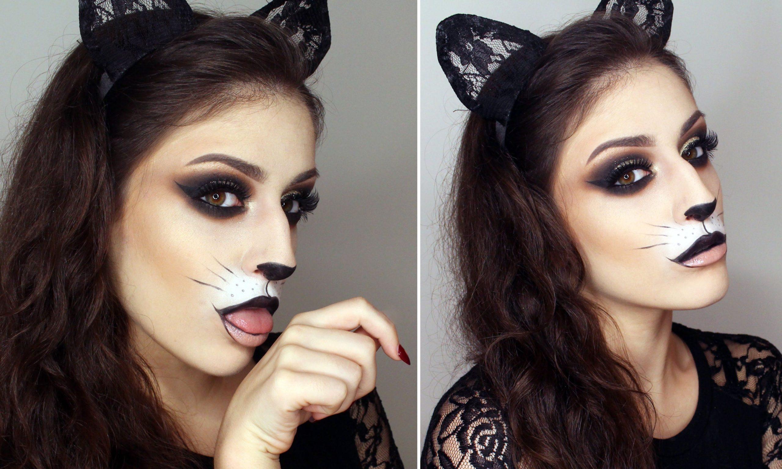 Déguisement félin pour Halloween.
