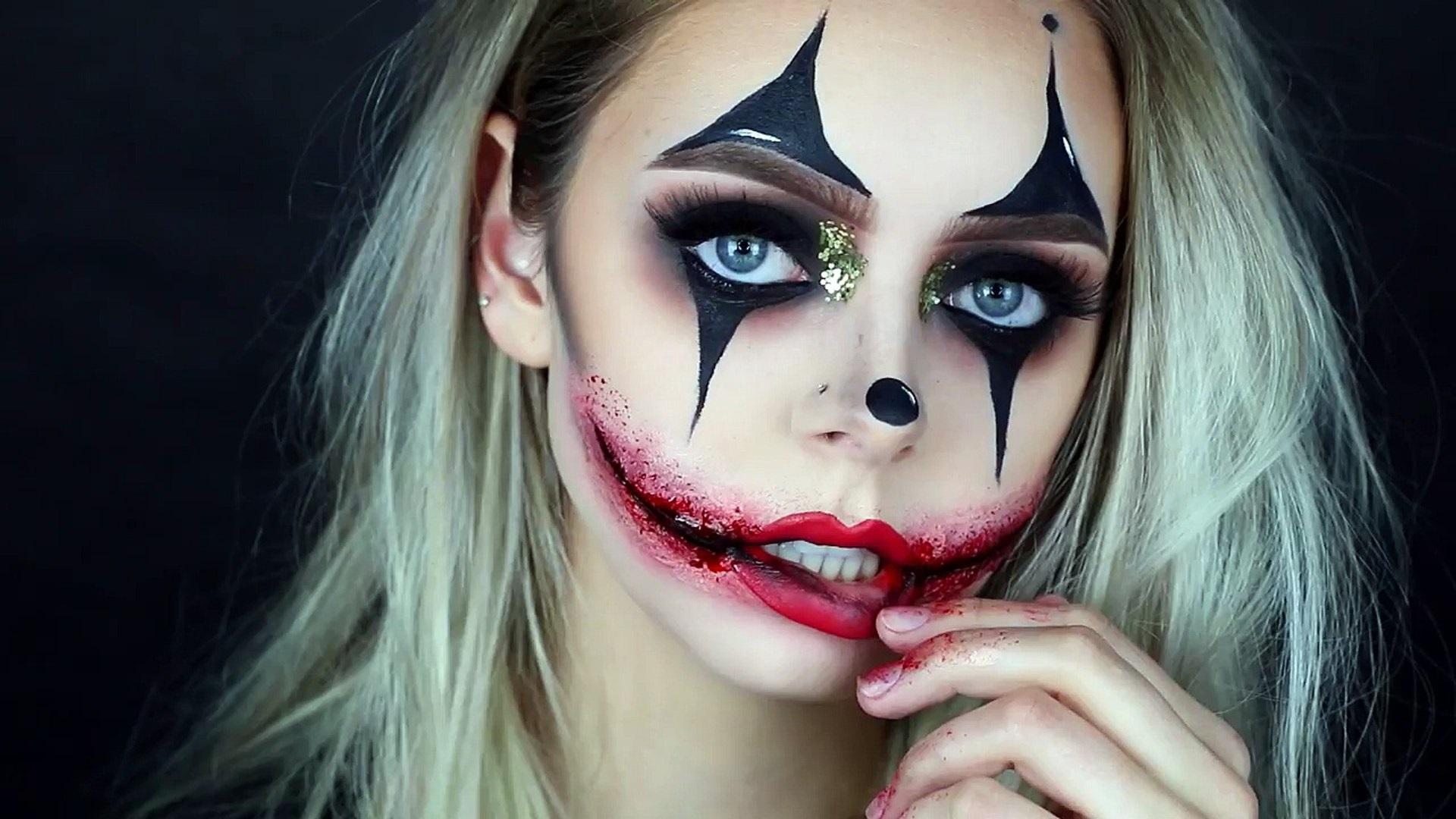 Мaquillage clown pour Halloween.